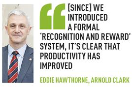Eddie Hawthorne Arnold Clark employee recognition
