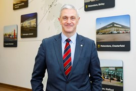 Arnold Clark chief executive and managing director, Eddie Hawthorne