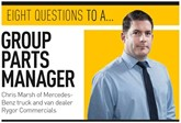 'Eight questions to…' group parts manager at Mercedes-Benz truck and van dealer Rygor Commercials, Chris Marsh