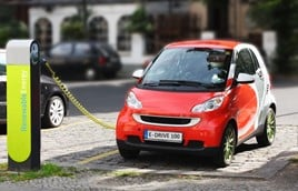 Electric smart car recharging