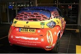 Renault Retail Group's festive Zoe EV