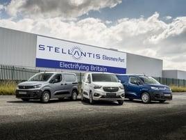 Stellantis' range of all-electric vans