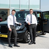 Endeavour's LEVC Taxi specialists at the Slough-based franchise are Will James (left) and Tom Probyn