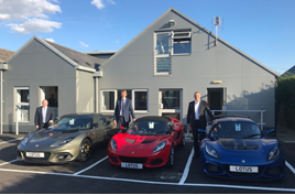 Endeavour Lotus' Twitter posts have shown managing director Adrian Wallington, alongside a trio of sports cars
