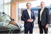 John Caney, left, and Adrian Wallington, of Endeavour Automotive, which has bought three Volvo dealerships from HSF Group (Hildenborough Squire Furneaux).
