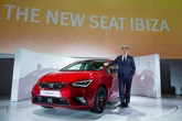 Luca de Meo, president of Seat, with the new Ibiza