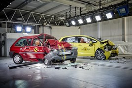 Top marks: Today's Honda Jazz is a Euro NCAP star, unlike the Rover 100