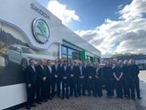 JCB Group's new Euro Skoda dealership team at Crawley Down