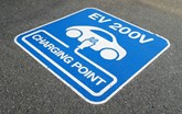 EV charge point sign