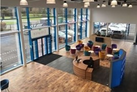 Inside the new Evans Halshaw Car Store, Gloucester