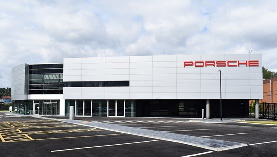 Pendragon's new Stratstone Porsche Centre, in Stockport