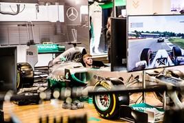 F1 simulator at Inchcape Mercedes-Benz pop-up shop