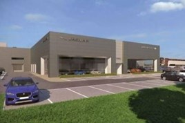 Artist's impression: Farnell's proposed Bolton JLR showroom