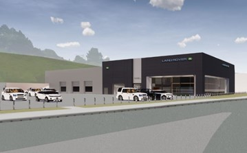 Artist's impression: Vertu Motors' new Farnell Land Rover dealership in Bradford