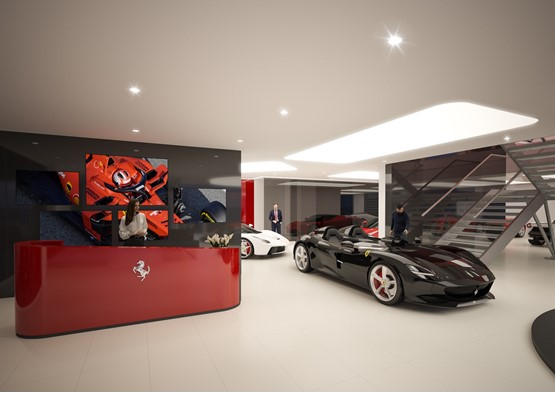 Artist's impression: inside JCT600's new Ferrari dealership development in Leeds