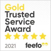 Feefo Gold Trusted Service Award 2021