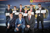 Six Ferrari service technicians received their apprenticeship graduation certificates at Silverstone
