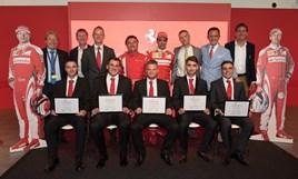 Ferrari's graduating apprentice technicians
