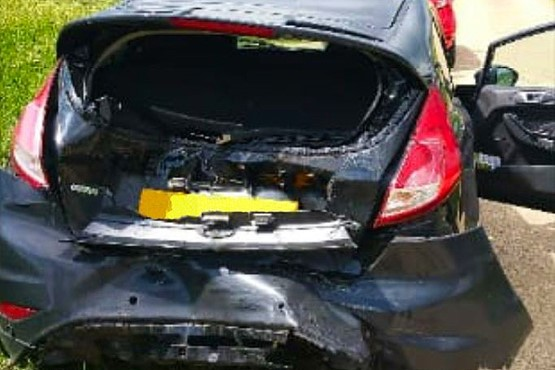 Ford Fiesta damaged