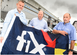 Mark Hutchins, business development manager for Fix Auto UK, with Frazer Phipps and Ivan Simonowski , owners of Headley Bodyshop/Fix Auto Newbury.