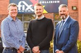 (from left) Paul Siemonek, Paul Smith and Simon Nash at Fix Auto
