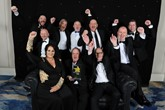 The TrustFord team celebrate their Fleet Dealer of the Year win at the Fleet News Awards 2019