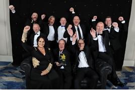 The TrustFord team celebrate their Fleet Dealer of the Year win at the Fleet News Awards 2019