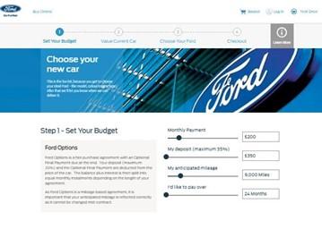Ford Buy Online new car sales platform