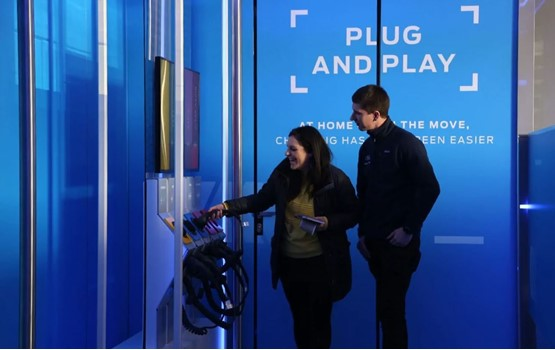 Car buyers experience the Ford Go Electric Roadshow