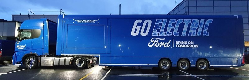 Ford's Go Electric Roadshow HGV will be travelling around the UK