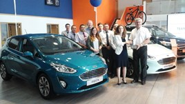 The Fordthorne team celebrate their Ford Chairman's Award victory