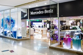 Lookers and Mercedes-Benz have opened a pop-up shop in Brighton's Churchill Square shopping centre