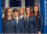 Furrows Group employees (left to right): Molly, Sophie, Jessica, Emily and Charlotte Banks