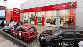 Glyn Hopkin's new MG Motor UK dealership in East London