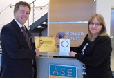 ASE chairman Mike Jones and Clair Dyson, ASE director for people and development