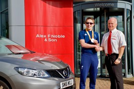 Alex F Noble  Son Nissan sales manager Gordon Campbell and Paralympics silver medallist Scott Quin