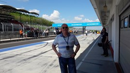 Greenacre Honda sales executive Wayne Lovick at the WTCC in Budapest