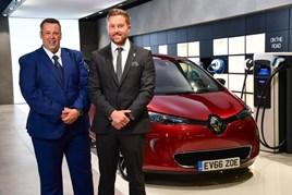Renault UK EV sales managers, Mathew Kiziuk (left) and Jonny Berry