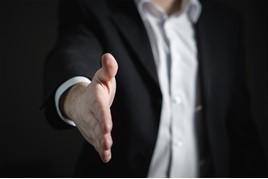 An employers' welcome handshake