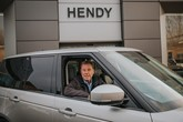 Harry Redknapp in a Range Rover