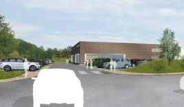 Artists' impression: Harwoods' proposed Brinsbury JLR showroom