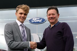 Will Hendy with Steve Collins, race organiser of the Hendy Ford Eastleigh 10k