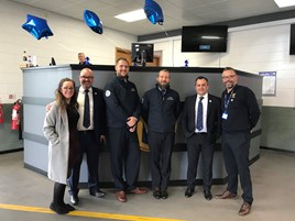 Pictured from left to right: Toni Rellis (Manheim Account Manager), Simon Palmer (Hendy Used Car Sales Director), Kevin Blincowe (Manheim Senior Group Auctioneer), Matthew Hewer (Manheim Group Auctioneer), Mark Sanger (Hendy Group Used Car Manager), and Mark Wilkinson (Manheim Reginal Buyer Services Manager)