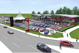 An artist's impression of Hendy Group's Eastleigh showroom