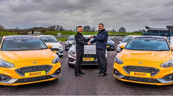 Ben Norton (left) from Thruxton Motorsport Centre and John Haylett, general manager of Hendy Performance