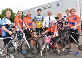 South Hereford Garages supports St Michael's Hospice's Wheelie Big Cycle Ride