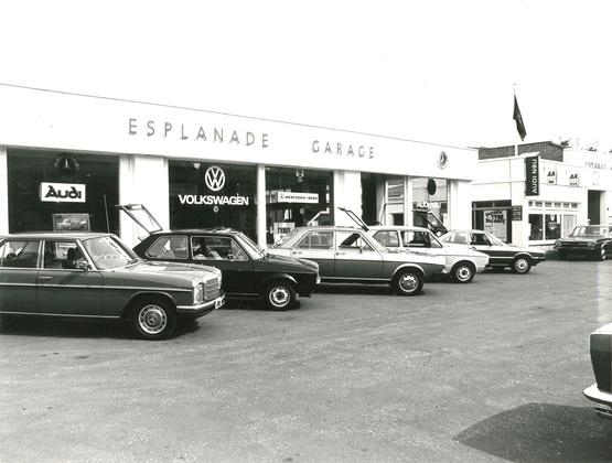 Esplanade's car dealership back in the 1970s