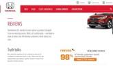 Honda's online review site