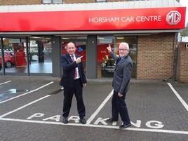 Horsham Car Centre opens its new MG Motor UK showroom