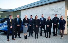 Award winners: the team at HR Owen's Cheltenham Aston Martin dealership